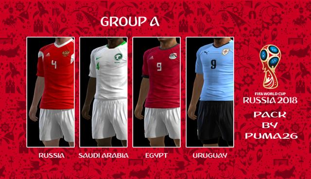 باك اطقم كأس العالم روسيا 2018 لبيس 2013 يضم 4 اطقم للمنتخبات