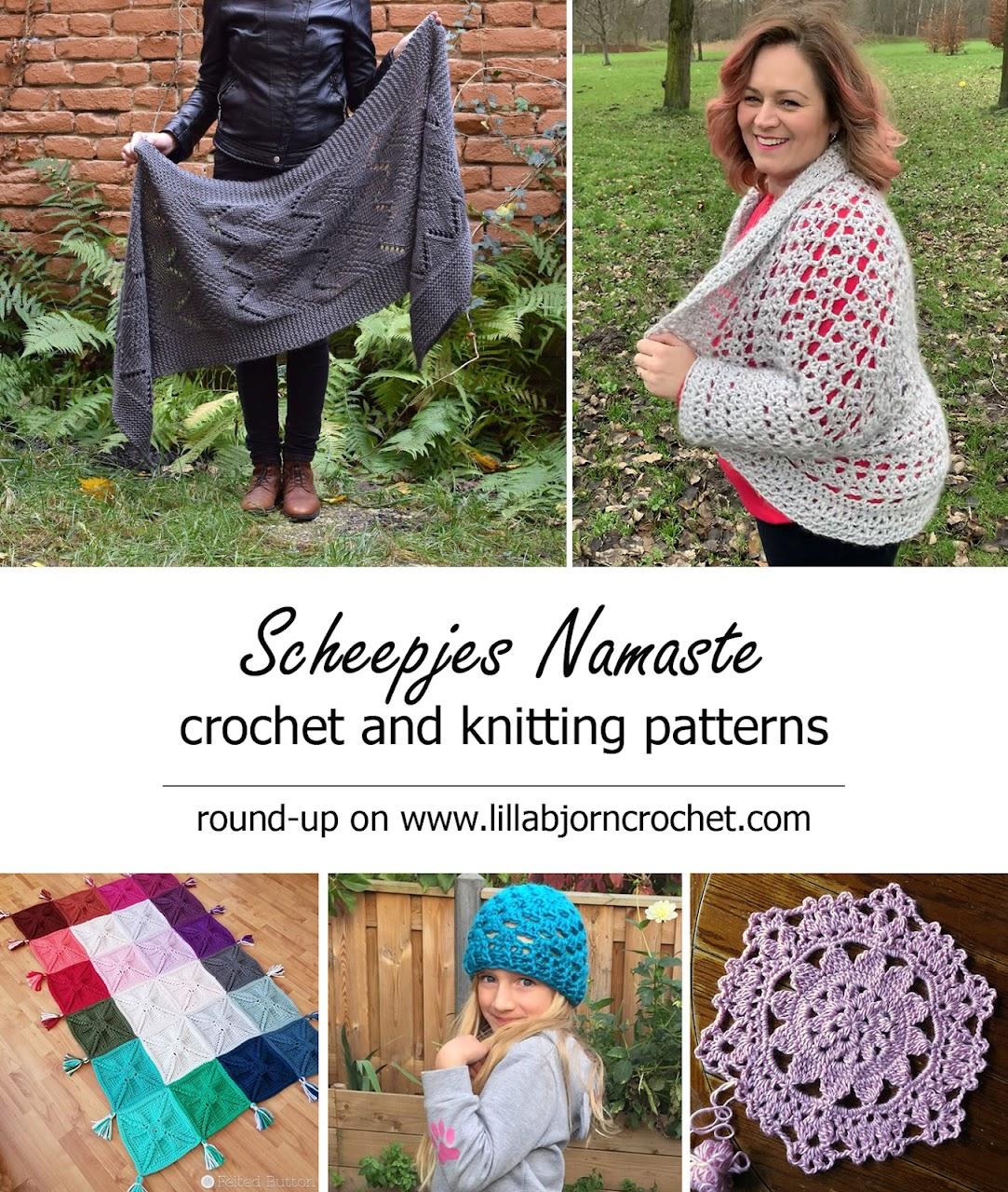 Scheepjes Namaste FREE patterns - round-up by www.lillabjorncrochet.com