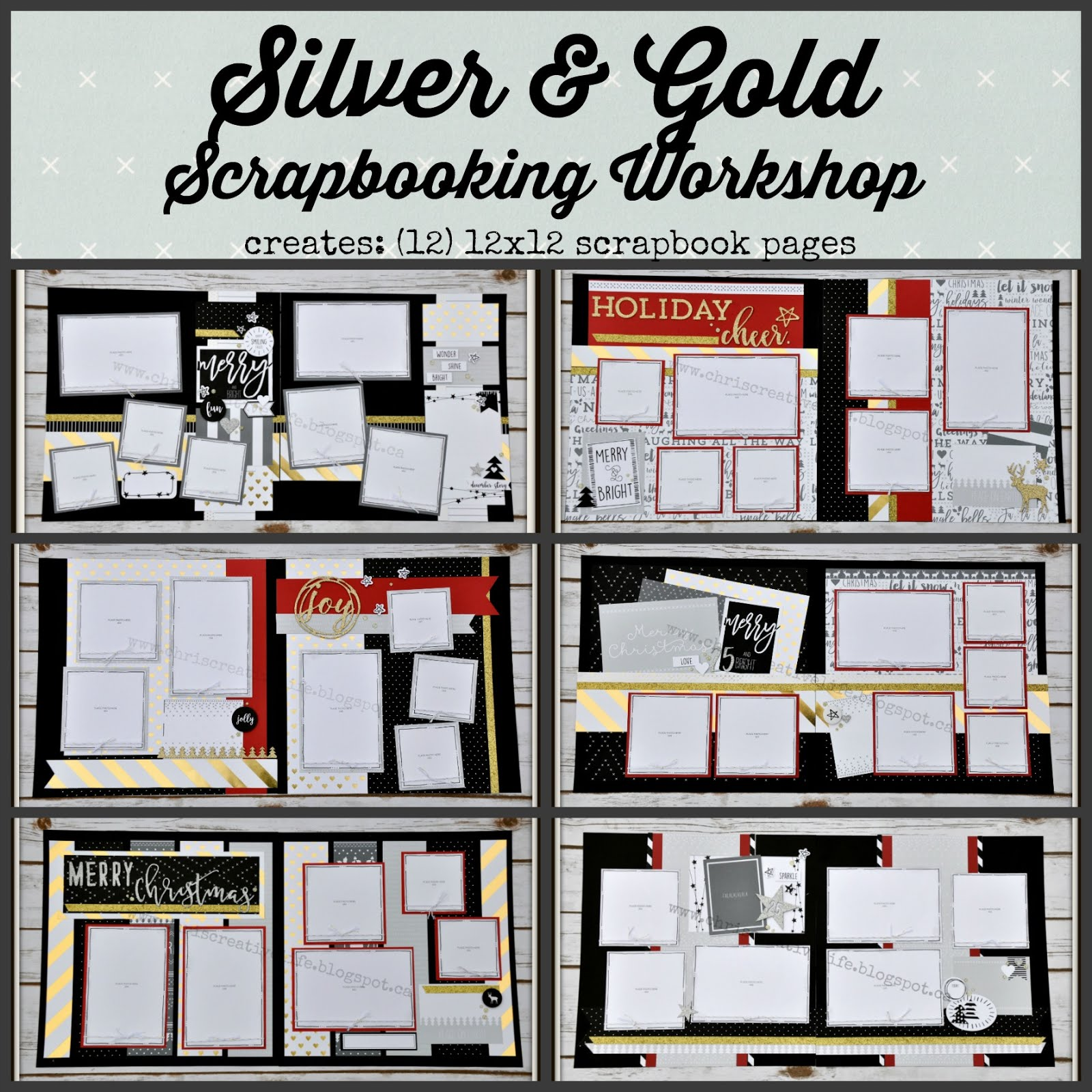 Silver & Gold Scrapbooking Workshop