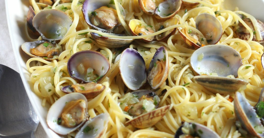 Blog de recetas espaguetis con almejas en salsa verde - Espaguetis con chirlas ...