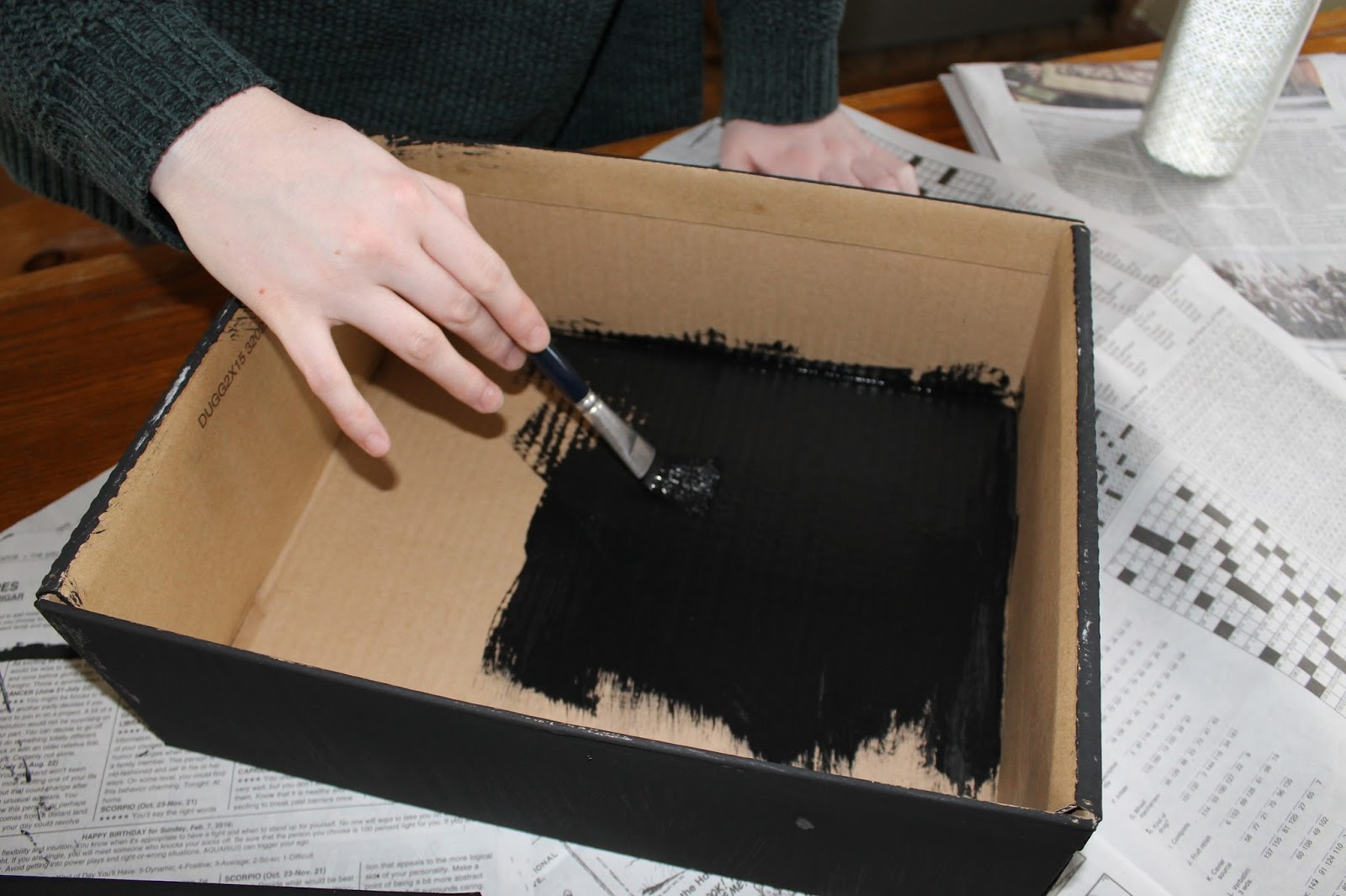 The First Step Is To Paint Inside Of Your Shoebox Black If Walls Are A Light Colour Although DIY We Drew Our Inspiration From Does Not Mention