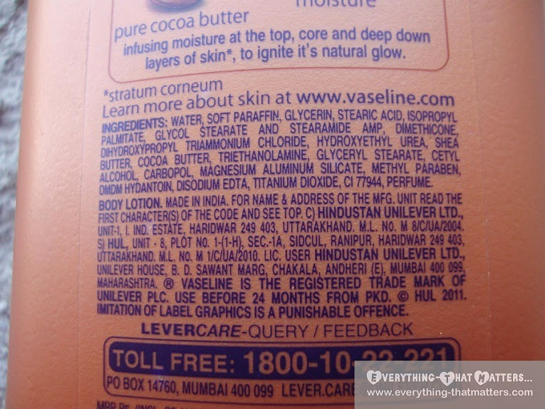 Vaseline Cocoa Glow Nourishing Lotion Review