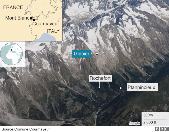 Huge Mont Blanc Glacier In Danger Of Collapse Because Of Global Warming