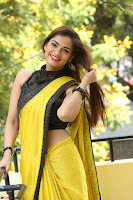 Cute Actress Ashwini in Yellow Saree Exclusive  025.JPG