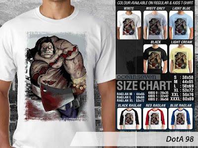 T Shirt DotA 2 Pudge, Lycan, Troll, Lina