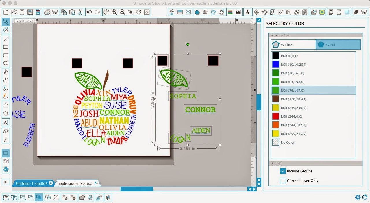 Silhouette Studio, Silhouette tutorial, layering vinyl, vinyl, select by color, Silhouette Designer Edition