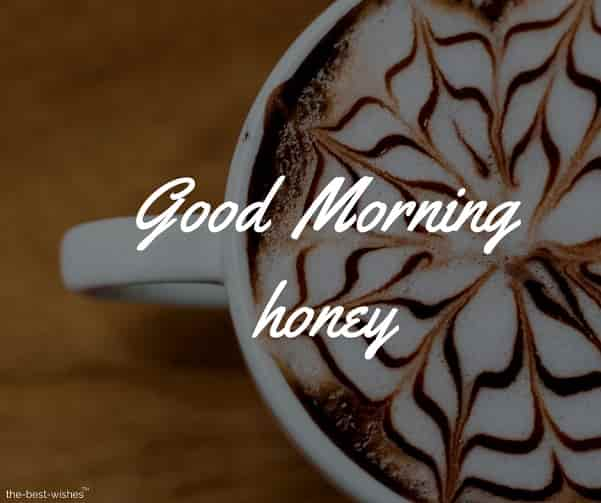 good morning honey coffee cup images