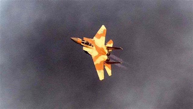 Israeli military war planes bomb Syria's army positions in Golan Heights