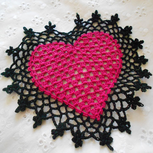 Heart Coaster or Mini Doily - Free Pattern
