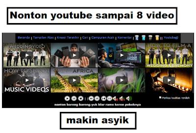 Cara Memutar 8 Video Youtube Secara Bersamaan Dalam Satu Layar