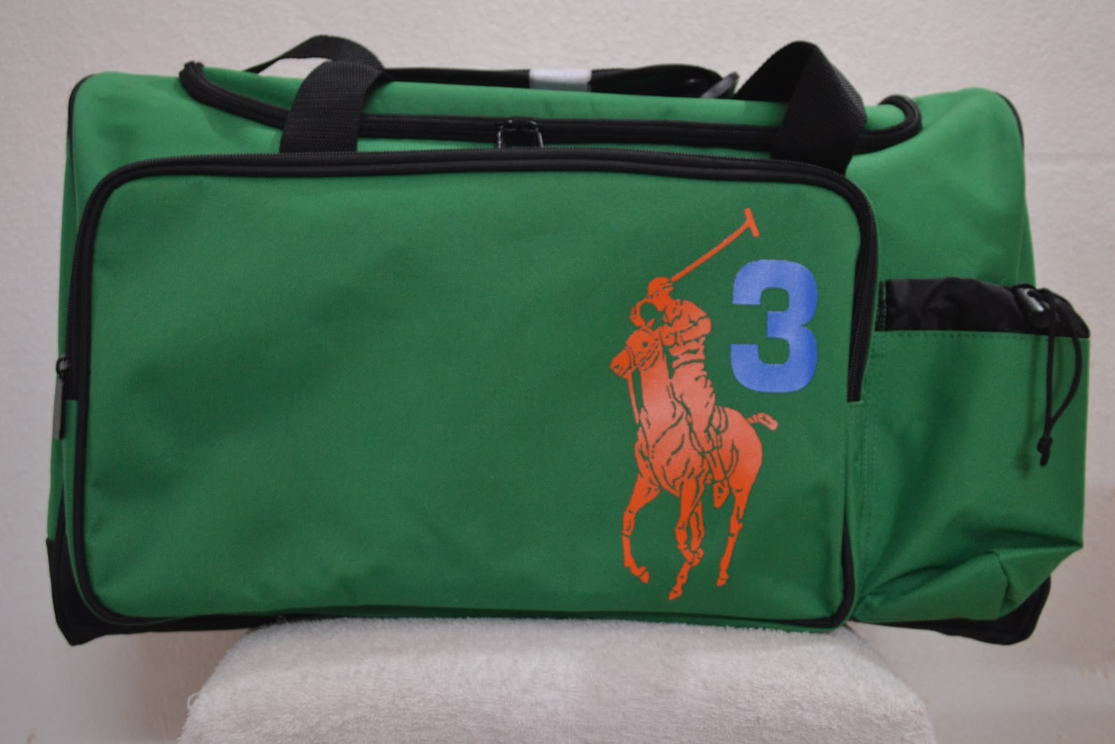 Polo Ralph Lauren Big Pony Weekender Travel Duffle Sports Gym Bag Green 3 f629200059943