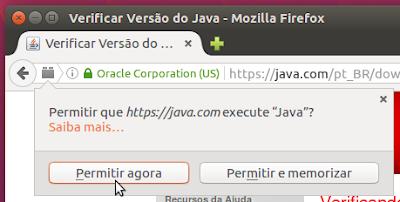 Permitir a execução do plugin Java