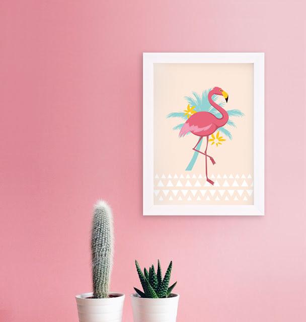 affiche flamingo le mog