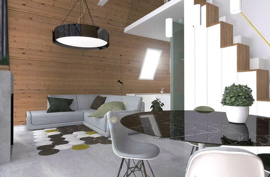 07-Living-Room-and-Dining-Room-MADi-Home-Flat-Pack-A-Frame-Tiny-House-www-designstack-co