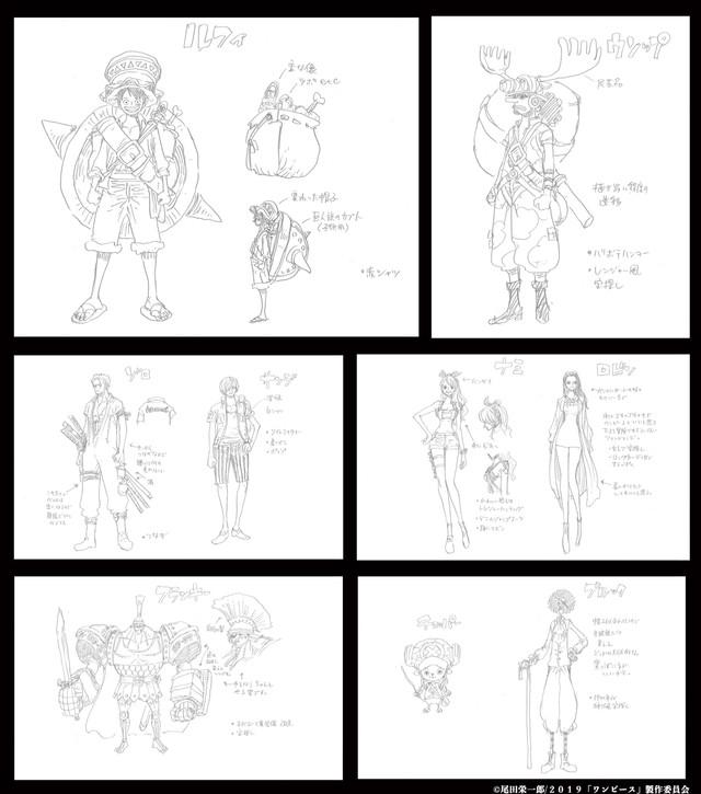 ONE PIECE: Diseños originales hechos por Oda para la nueva película