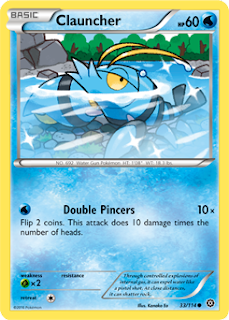 Clauncher Steam Siege Pokemon Card