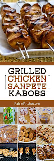 Grilled Chicken Sanpete Kabobs found on KalynsKitchen.com