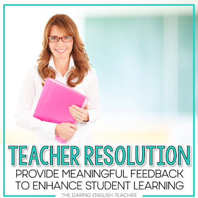 Teacher New Year's Resolutions to help make a difference