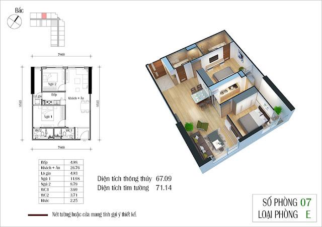 Thiết kế căn hộ 07 tòa CT2 Eco Green City