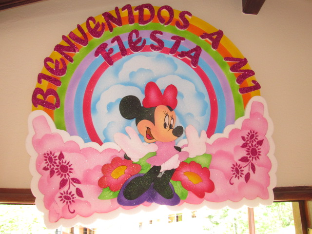 DECORACION GLOBOS MINNIE MOUSE RECREACIONISTAS MEDELLIN