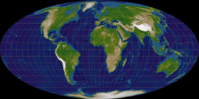 Odwzorowanie Mollweidego pseudowalcowe równopolowe By Lars H. Rohwedder (UserRokerHRO) - Praca własna, CC BY-SA 3.0, httpscommons.wikimedia.orgwindex.phpcurid=1018414