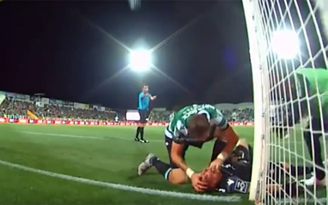 Sporting CP defender Sebastián Coates is branded a hero for his quick reaction to rescue goalkeeper Romain Salin from choking