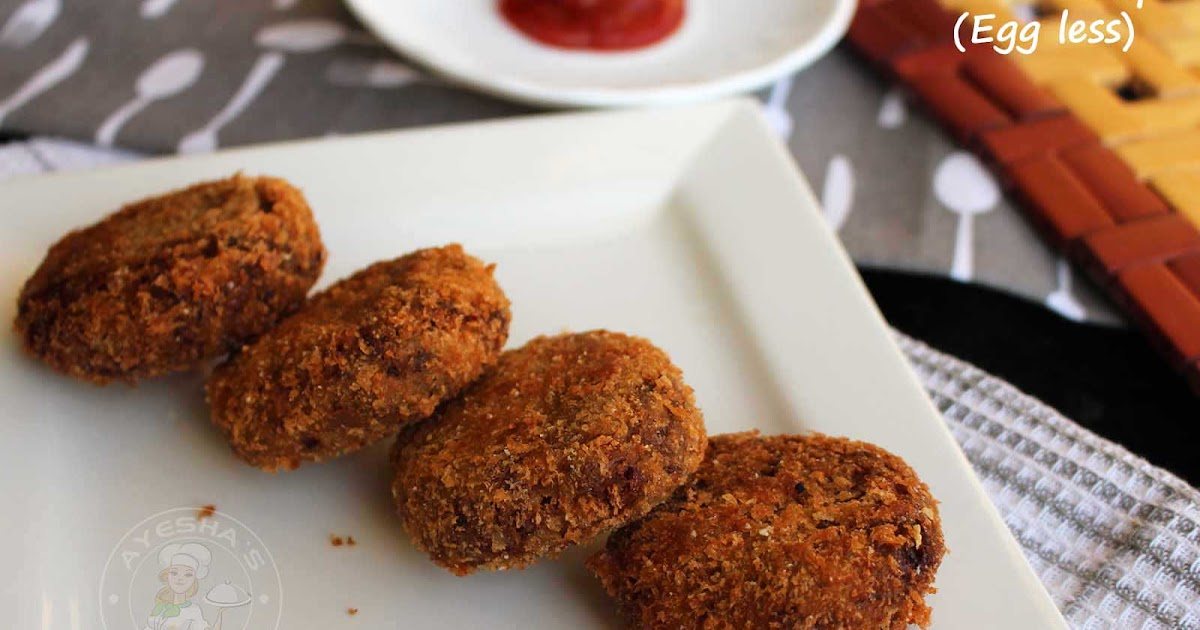 Cutlet Recipe How To Make Perfect Beef Cutlet Eggless