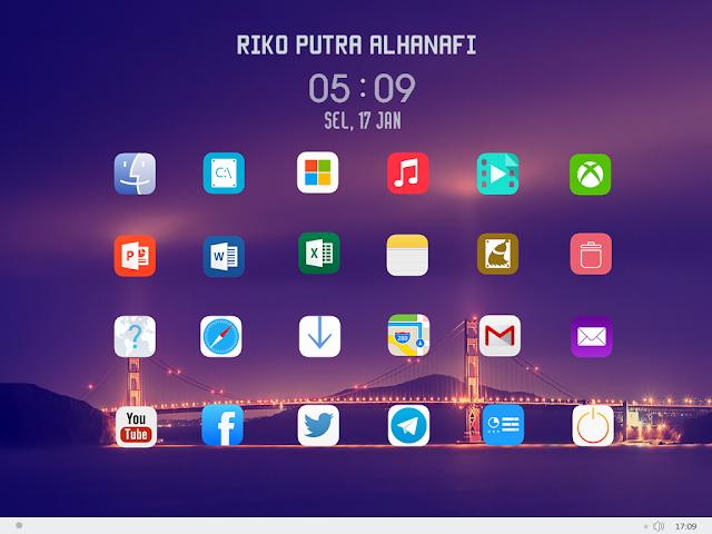 tampilan iOS 7 pada dekstop windows