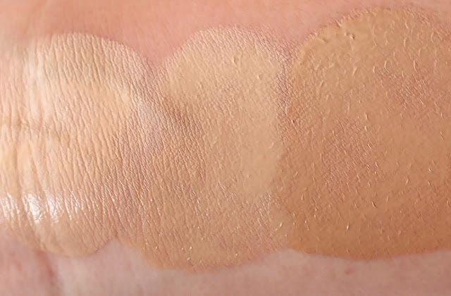 Avon Luxe Range Review, Avon Luxe Silken Foundation Swatches