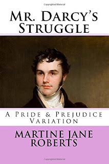Book cover: Mr Darcy's Struggle by Martine Roberts