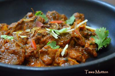 Tawa Mutton | Mutton Curry | Pan Fried Mutton Curry