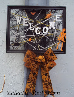 Halloween Frame Welcome Sign
