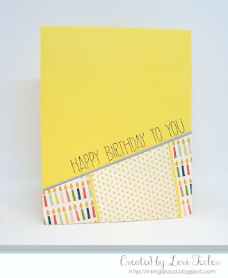 Happy Birthday to You card-designed by Lori Tecler/Inking Aloud-stamps from Avery Elle