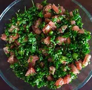 Lebanese Tabouleh Dish