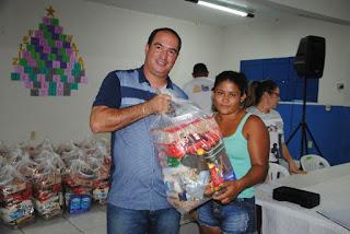 Resultado de imagem para foto da prefeitura de carnaubais entregando as cextas as famílias carente