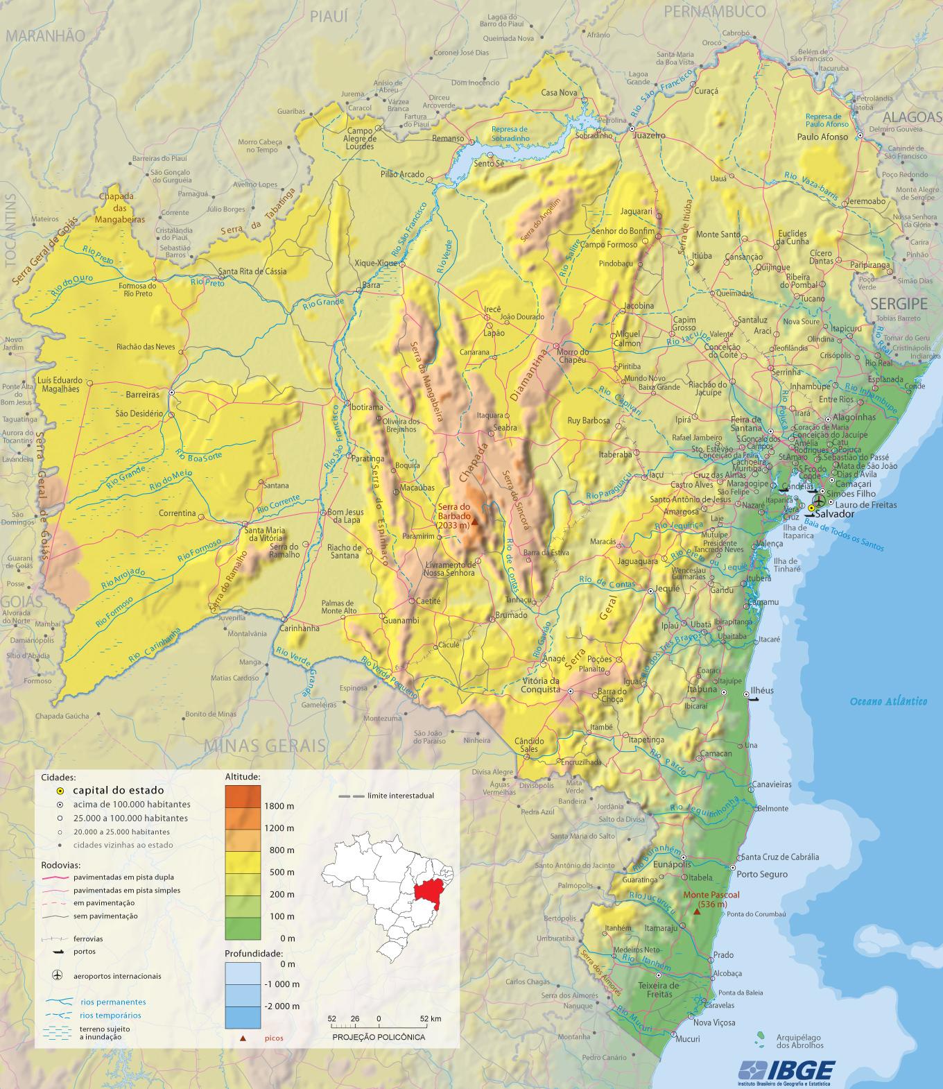 Mapas do Estado da Bahia