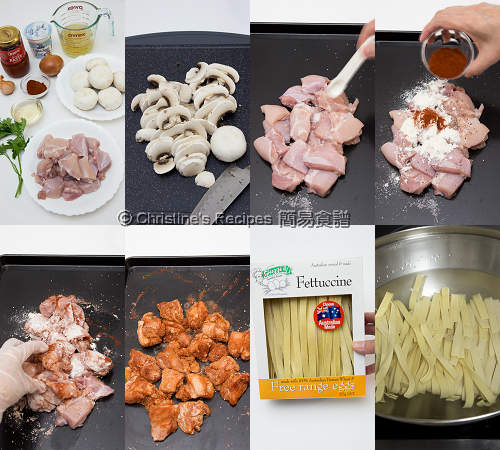 How to Make Chicken Stroganoff Fettuccine01