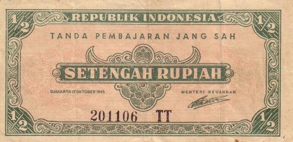 Gambar Mata Uang Kertas Republik Indonesia Pecahan 0,5