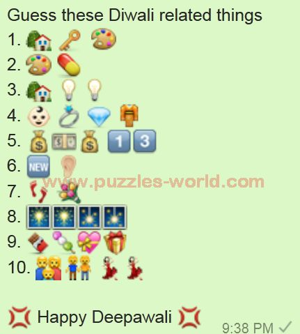 Guess these Diwali Related Things