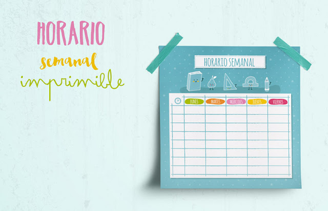 Horario semanal para imprimir mr wonderful