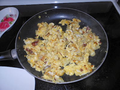 Potatoes and Eggs skilet meal