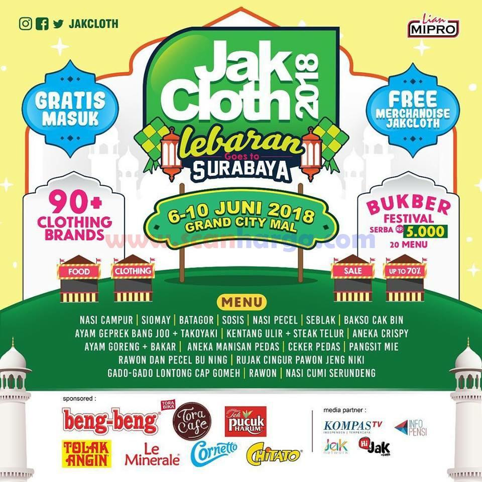 Jakcloth 2020 Spesial Lebaran Surabaya Grand City Mall