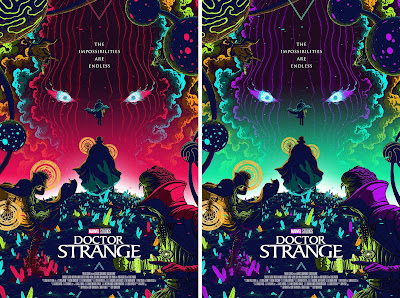 Doctor Strange Movie Poster Screen Print by Florey x Grey Matter Art x Marvel