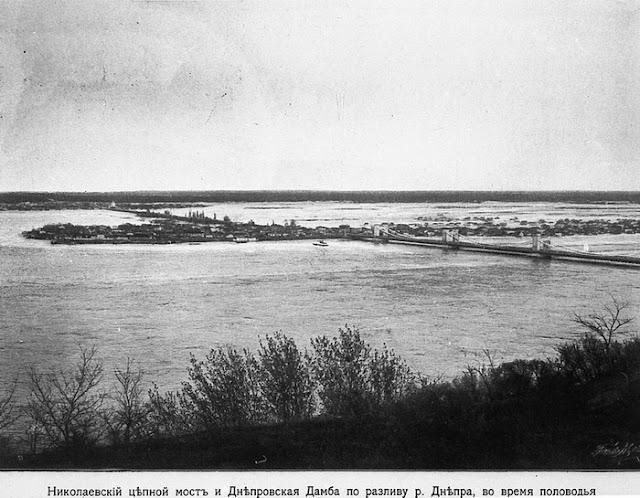 Разлив Днепра в районе Николаевского цепного моста
