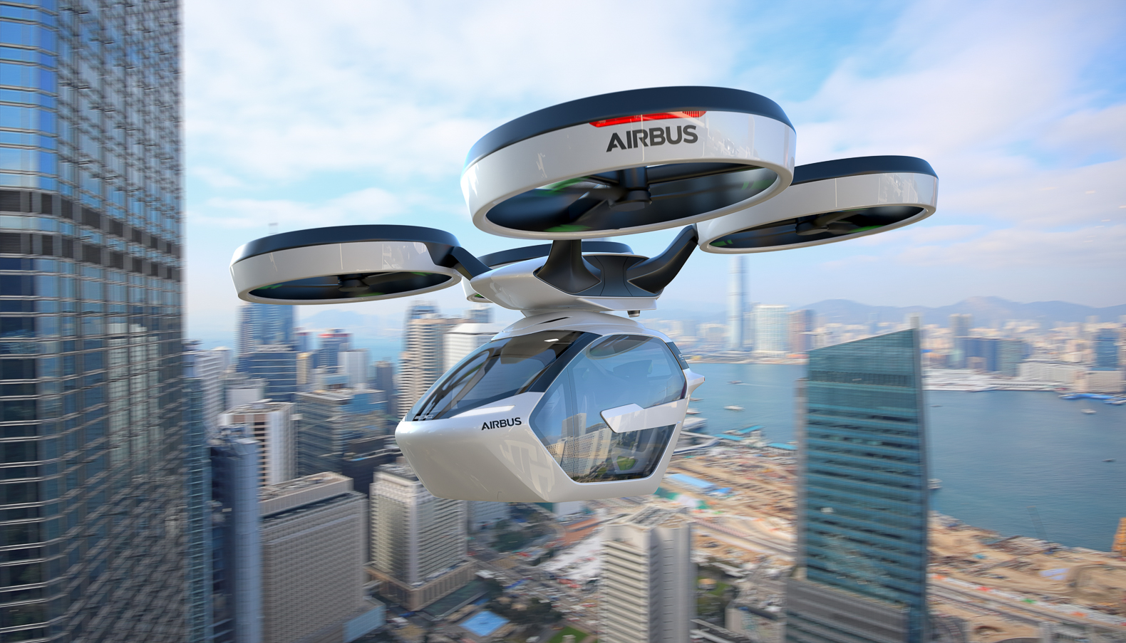 Airbus and Italdesign unveil modular urban land and air transport system.
