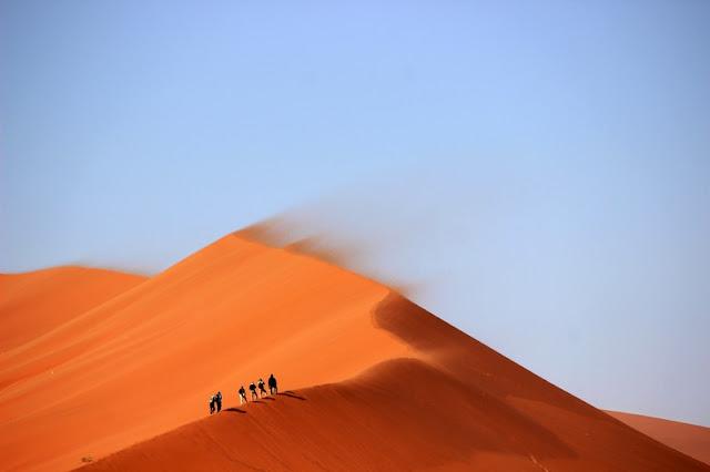 Sand and Wind at Sahara Desert