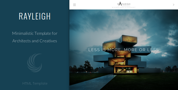 Responsive minimal architect template