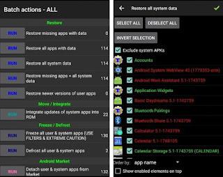 Memulihkan aplikasi dan sistem data