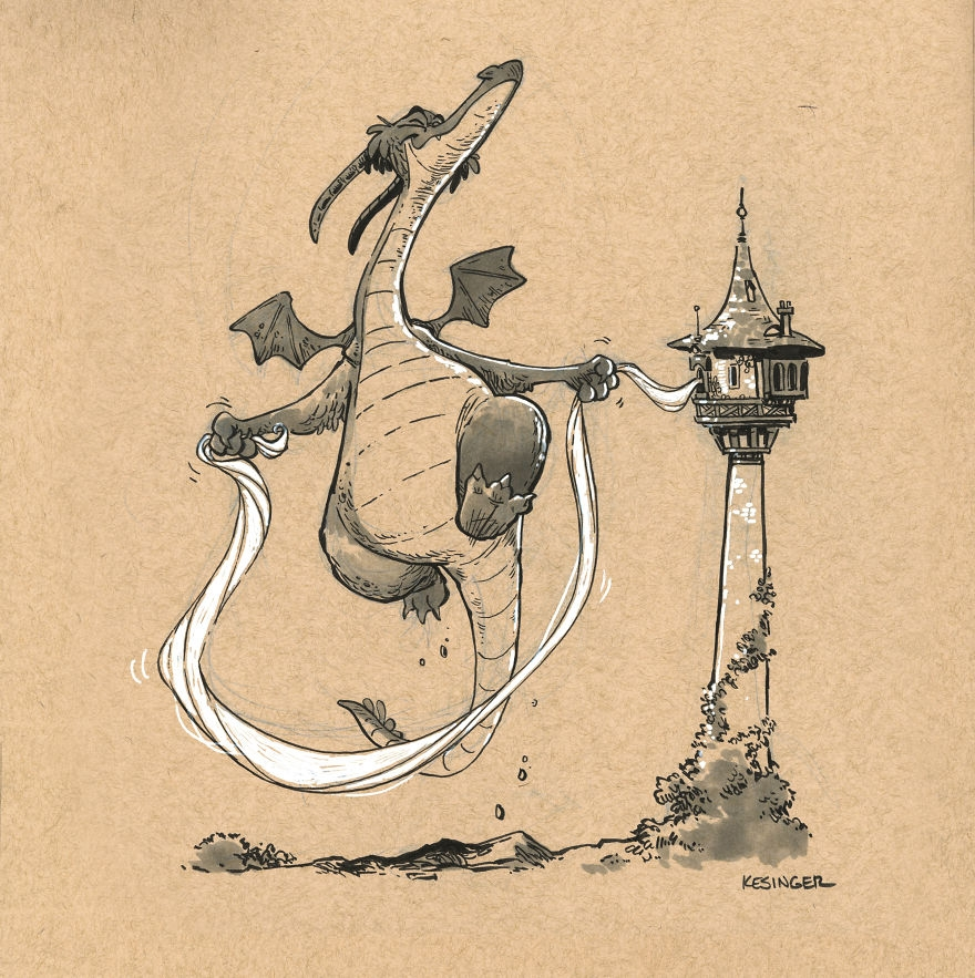 10-Varlad-the-Improviser-Brian-Kesinger-Drawings-that-Show-the-Kinder-Side-of-Dragons-www-designstack-co