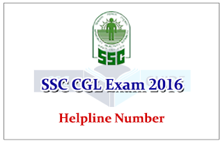 Notice - Helpline Number for SSC CGL Exam 2016